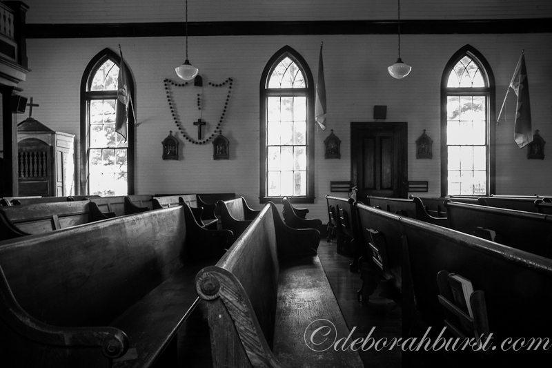 st francis church interior b&w watermark